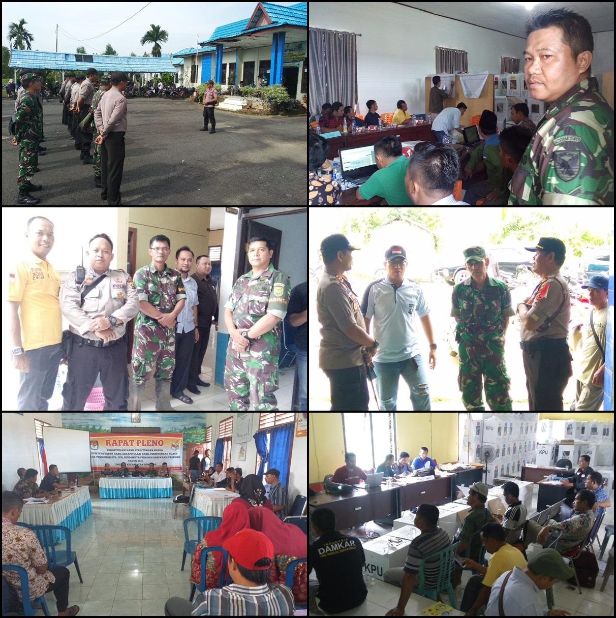 Babinsa Koramil 01/Muara Sabak Pantau & PAM Rapat Pleno
